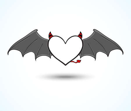 Devil heart background Vector
