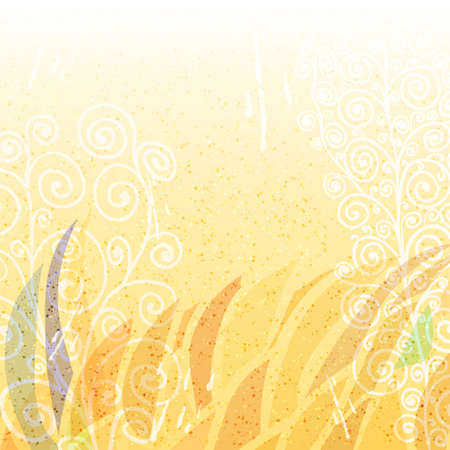 Abstract bright beige floral background