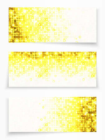 Set of 3 banners with yellow circles