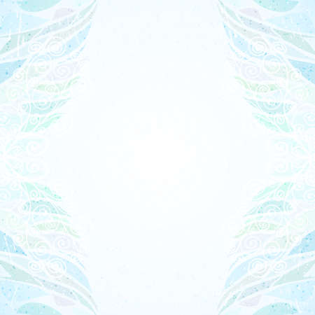 Abstract blue floral card vertical Vector