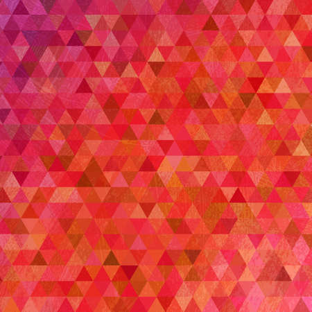 smeared: Grunge bright pink triangles abstract background Illustration