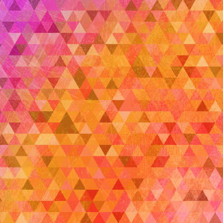 smeared: Grunge bright orange triangles abstract background