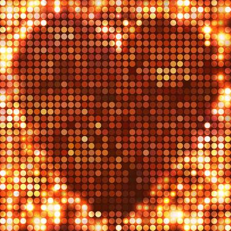 round copper mosaic spots heart Vector