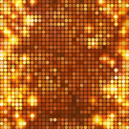 round gold mosaic spots vertical Vector