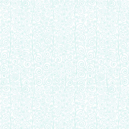 Blue on white curly seamless pattern
