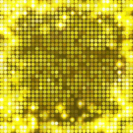 round yellow mosaic spots all sides