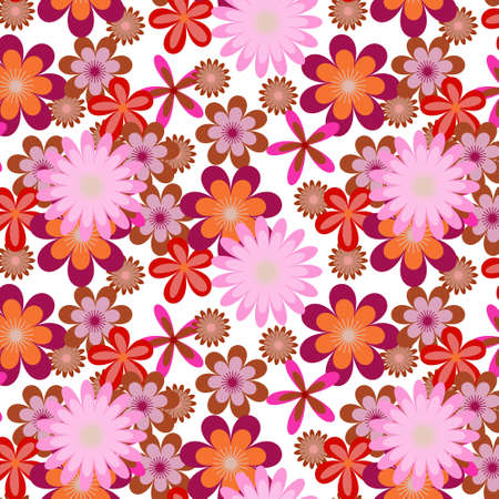 Simply seamless pink flower background