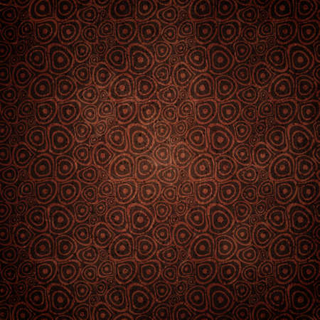 Vintage Doodle circles coffee seamless background Vector