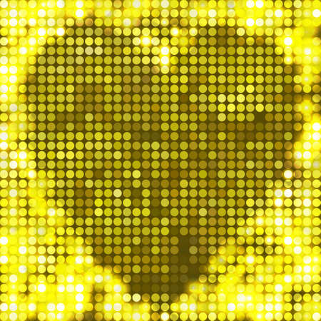round yellow mosaic spots heart Vector