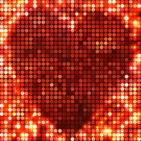 round red mosaic spots heart Vector