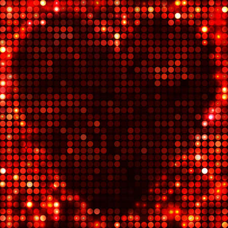 round black red mosaic spots heart Vector