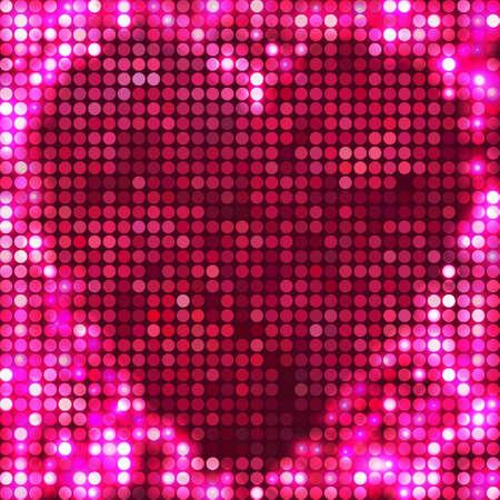round rose mosaic spots heart Vector