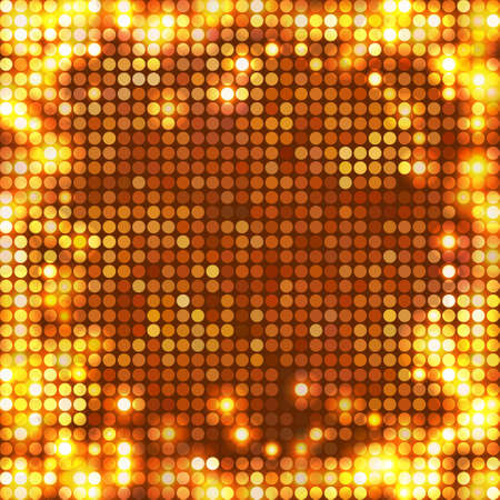round gold mosaic spots all sides Vector