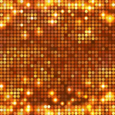round gold mosaic spots horizontal Ilustração