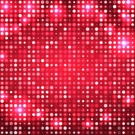 red abstract sparkling disco background with circles