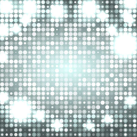 grey abstract sparkling disco background with circles Vector
