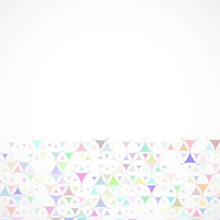 Abstract background with multicolored shapes at bottom side. Vector illustration with empty space for text message. Vector