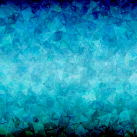 sides: Abstract blue black triangle background with blackout at top and bottom sides Illustration