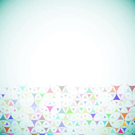Abstract blue background with multicolored shapes at bottom side Vector