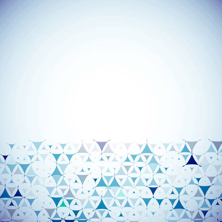 Abstract blue background with blue shapes at bottom side. Vector illustration with empty space for text message. Vector