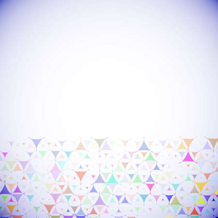 Abstract violet background with multicolored shapes at bottom side. Vector illustration with empty space for text message. Vector