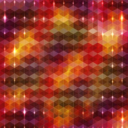 Verticale gloeiende deeltjes op veelkleurig zeshoek patroon met ruimte voor uw tekst in het midden Stockfoto - 23655418