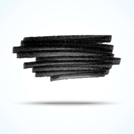 Vector handgemaakte marker strepen. zwarte grunge design element Stockfoto - 23855059