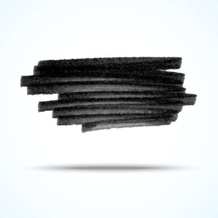 Vector handmade marker stripes. black grunge design element Vector