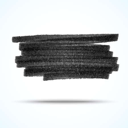Vector handmade marker stripes. black grunge design element Illustration