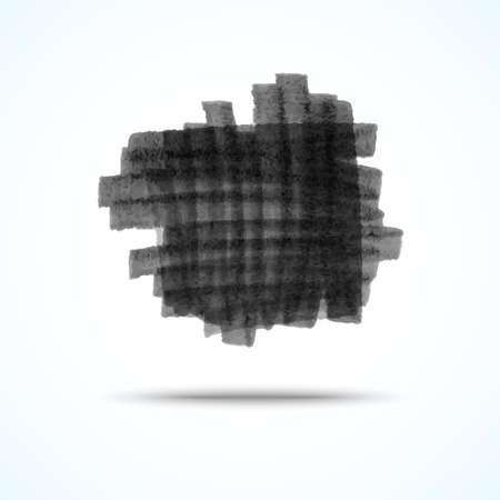 Vector handmade marker stripes. black grunge square design element Stock Vector - 23855061