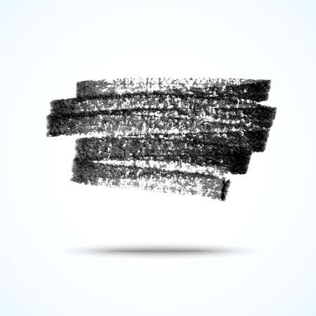 Vector handmade marker stripes. black grunge design element Stock Vector - 23855062