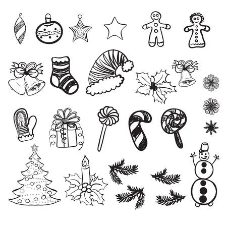 Vector set of Christmas related doodles Stock Vector - 24249037