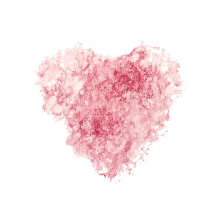 St. Valentine vector illustration. Watercolor heart paint imprint. Pink color. Stock Vector - 24599432