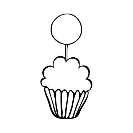 topper: Cupcake decorated with round topper.