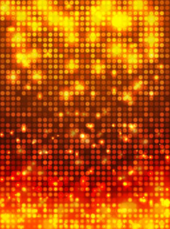 Fire disco vector background  vertical mosaic with light spots Vector