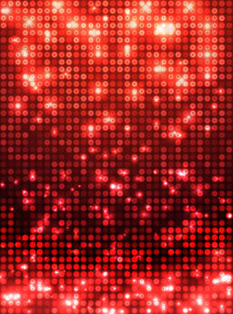 red disco vector background  vertical mosaic with light spots Vector