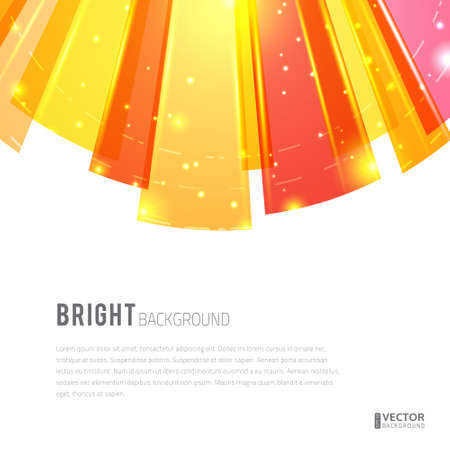 Bright rays round abstract vector background. With space for text. Vector