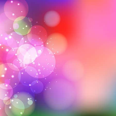 Vector purple background with bokeh and sparkles. Vector