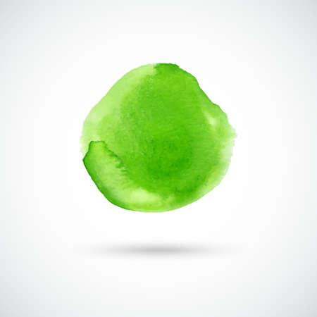 green hand: Green hand drawn watercolor circle