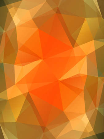 topaz: Orange topaz gem vector background. Bright polygonal transparent design for your business presentations, flyers, posters, banners, web page, advertisement, wrapping, printed products Illustration
