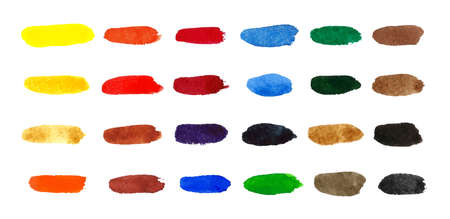 Different Color Smears of paints Illustration