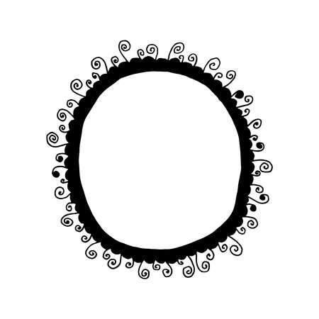 Hand drawn frame doodle design Illusztráció
