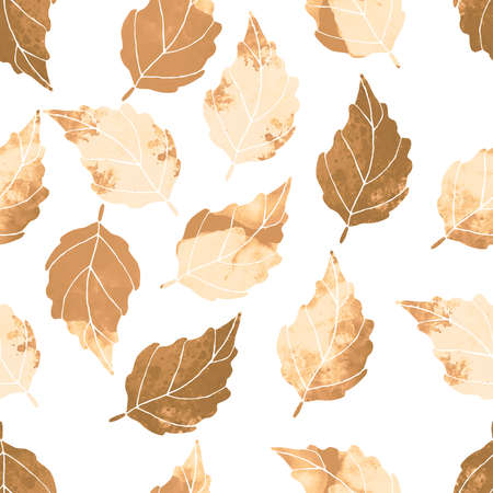 watercolor leaves seamless pattern Stockfoto - 141211700