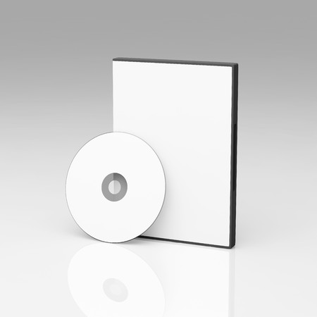 Blank DVD case and disc photo