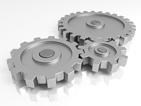Gear wheels. A part of the mechanism. Stock Photo - 7753003