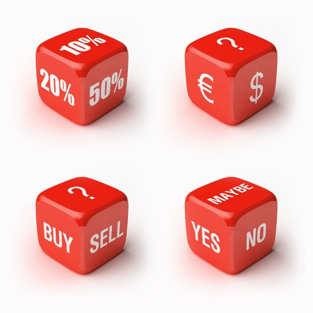Dice kit. Variations business and marketing concepts. Stock Photo - 7937758