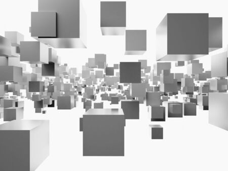 An abstract 3d background from cubes photo