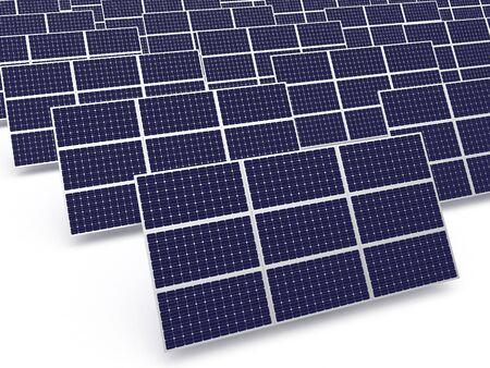 solar power plant: Solar power plant. Rows of photovoltaic panel. Stock Photo