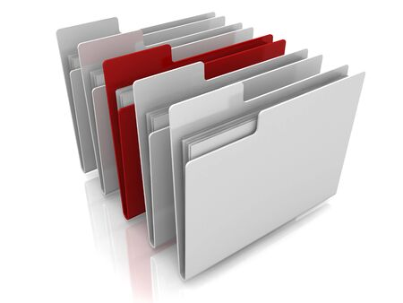 Folder icons row with one selected Stock Photo