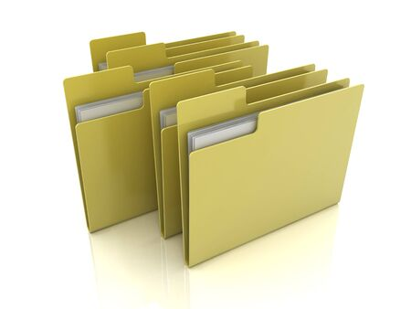 folder icons: Selected folder icon with files